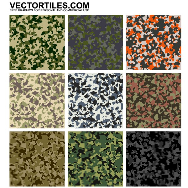 Camouflage Texture Patterns | Vector Tiles