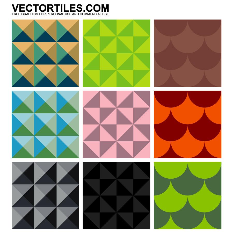 seamless geometric patterns vector tiles