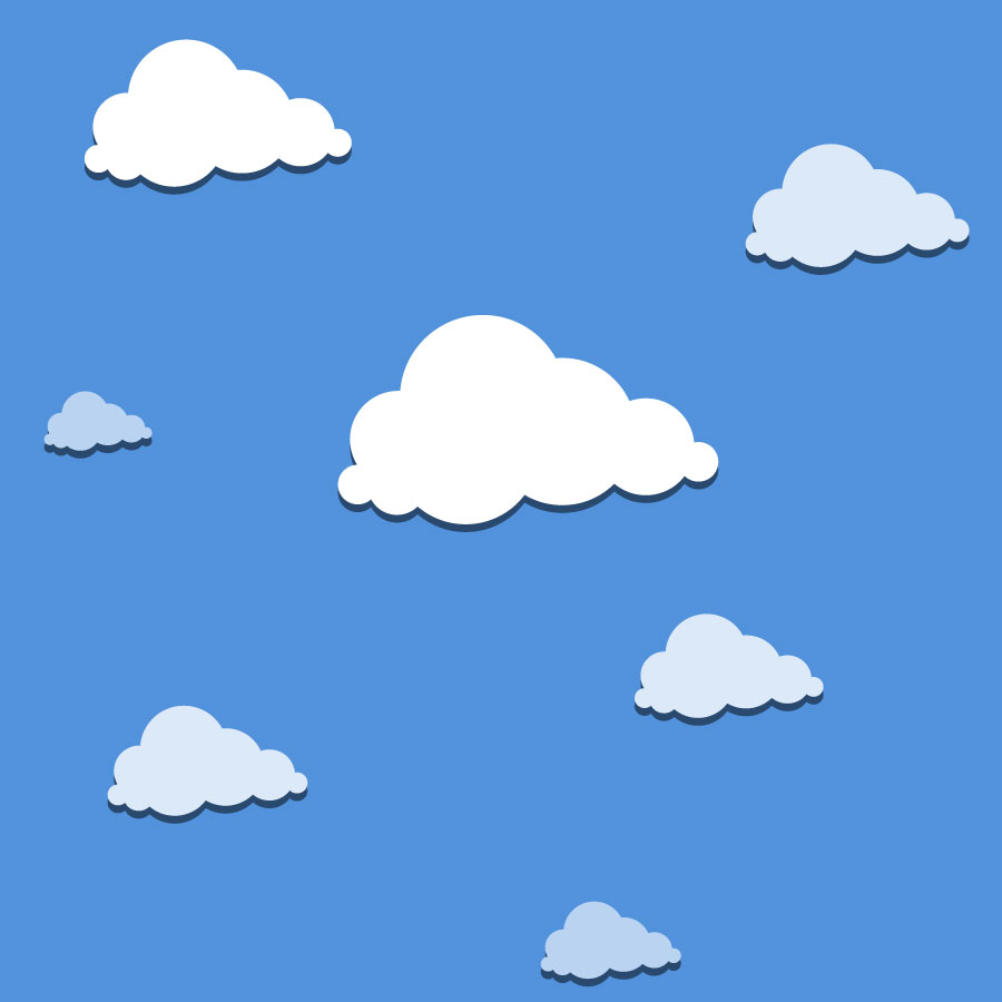 Sky And Cloud Patterns Vector Tiles
